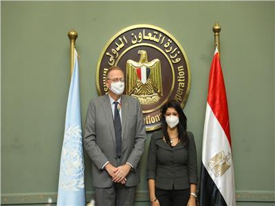 وزيرة التعاون الدولي والمنسق المقيم لمكتب الأمم المتحدة في مصر