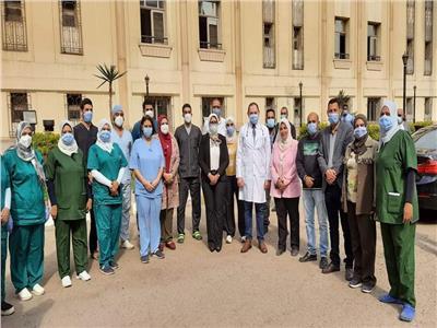 وزيرة الصحة تزور مستشفى العجوزة