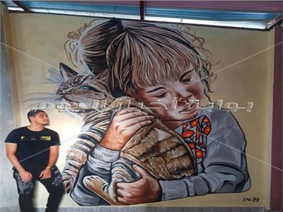 جداريات مجسمة لمحمد ضياء