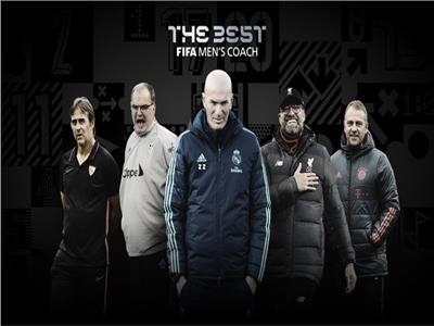 الخماسي المرشح لجائزة أفضل مدرب