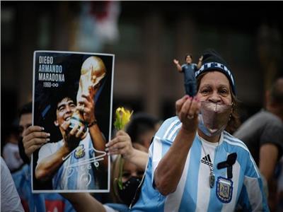 من جنازة مارادونا