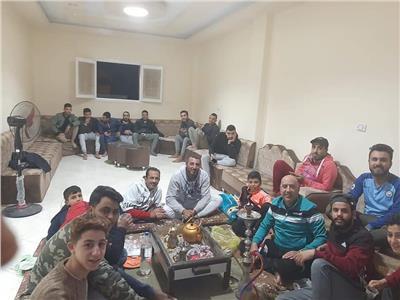 احتفال جماهير الأهلي بمدينة العريش