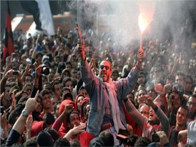 احتفالات الجماهير بفوز الأهلي
