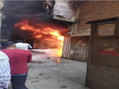 نشوب حريق مقر مرشح برلمانى بدار السلام