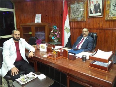 وكيل وزارة التربية والتعليم بمطروح ونقيب المعلمين