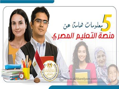 إنفوجراف   5 معلومات هامة عن منصة التعليم المصري