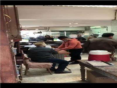 غياب الإجراءات الاحترازية بمكتب بريد جرايدة بكفر الشيخ