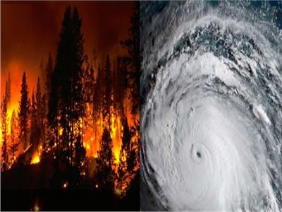 الأعاصير وحرائق الغابات