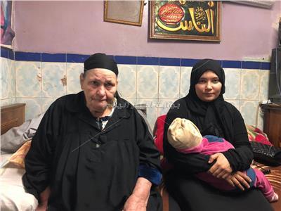 زوجة المجني عليه ووالدته