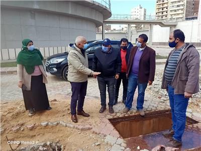 خلال تفقد أعمال الاحلال والتجديد بمحطة مياه دمنهور
