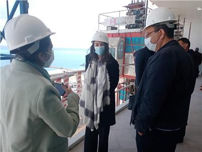 خلال  زيارة القنصل العام الفرنسي بالإسكندرية لمشروعات مدينة العلمين الجديدة