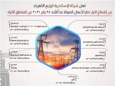 انقطاع الكهرباء عن 9 مناطق بالإسكندرية اليوم