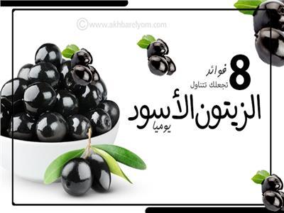 إنفوجراف| 8 فوائد تجعلك تتناول الزيتون الأسود يوميا