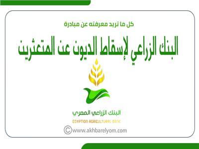 إنفوجراف | كل ما تريد معرفته عن مبادرة البنك الزراعي لإسقاط الديون عن المتعثرين.