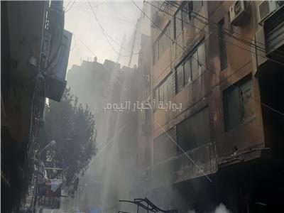 حريق هائل بشارع التوفيقية