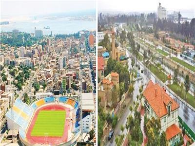 مدينة الإسماعيلية  تزداد تألقا وجمالا مع تساقط الأمطار