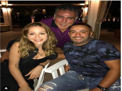 تامر حبيب مع أحمد السقا ومنة شلبي