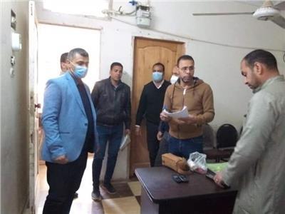 لجنة من الوحدة المحلية لمركز مطاي شمال المنيا