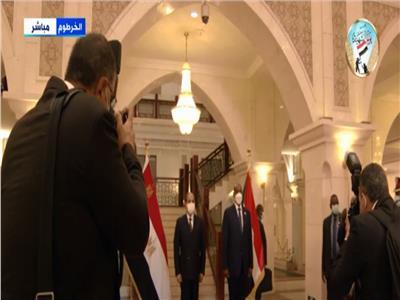 صورة تذكارية توثق زيارة الرئيس عبدالفتاح السيسي