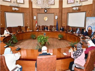 إجتماع مجلس التعليم والطلاب بجامعة القناة