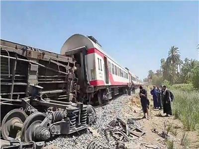 حادث قطاري سوهاج