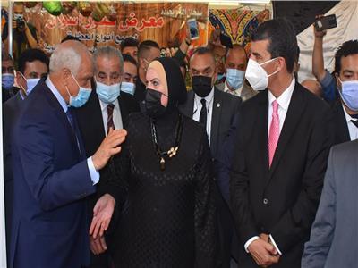 أثناء افتتاح معرض أهلا رمضان