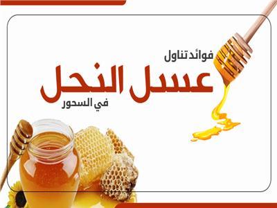 إنفوجراف| فوائد تناول عسل النحل في السحور