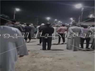 الآلاف من اهالى المعنى يشيعون جثامين ابناءهم فى حادث الاتوبيس المنكوب