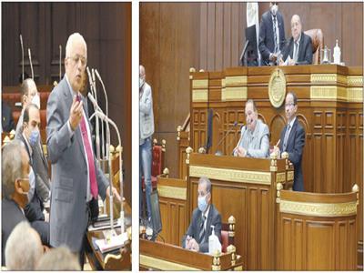 المستشار عبدالوهاب عبدالرازق رئيس مجلس الشيوخ يستمع لتعقيب وزير التعليم