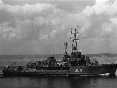 """كاسحة الألغام """"أسيوط"""" التابعة للبحرية المصرية خلال فترة الحرب"""