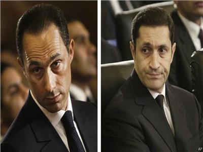 علاء وجمال مبارك نجلي الرئيس الراحل