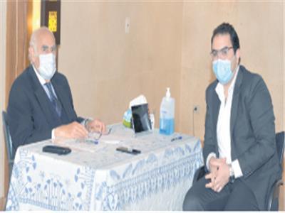 د. عادل البلتاجى خلال حواره مع «الأخبار»