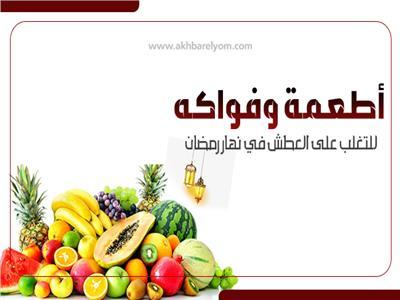 إنفوجراف   أطعمة وفواكه للتغلب على العطش في نهار رمضان