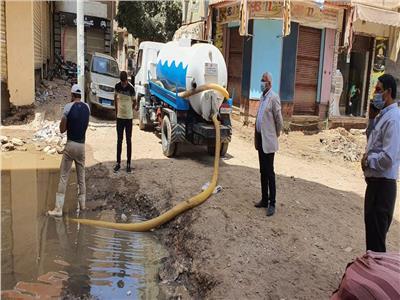 رئيس شركة مياه المنوفية يتابع  أعمال الاصلاح بشبين الكوم