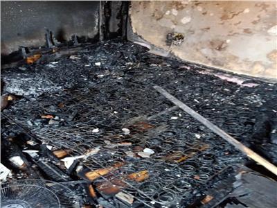حريق مروع داخل شقة بالبحيرة