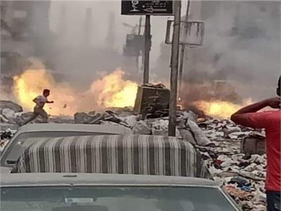 حريق القمامة كاد أن يطال غرفة الغاز