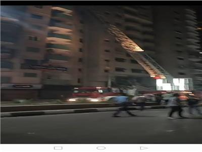 السيطرة على حريق اعلي فندق شهير بطنطا دون وقوع ضحايا