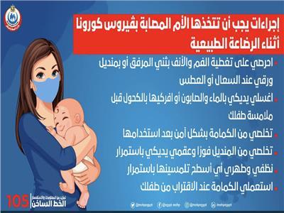 إرشادات للأمهات المصابات ب«كورونا»