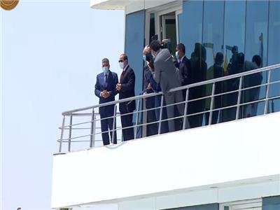 الرئيس السيسي يشهد افتتاح عددا من مشروعات تطوير قناة السويس