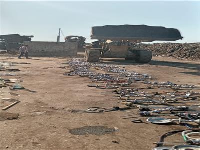 إعدام ٣٠٠ شيشة بعد مصادرتها بالمقاهى المخالفة