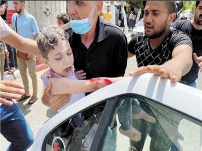 العدوان الإسرائيلي يستهدف الأطفال فى غزة