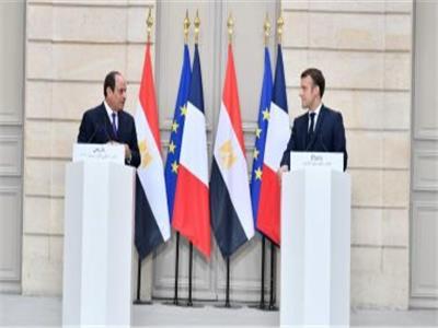 الرئيس السيسي ونظيره الفرنسي - صورة أرشيفية