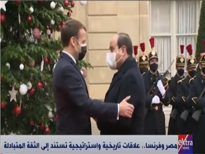 الرئيس السيسى والرئيس الفرنسي