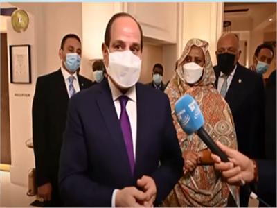 الرئيس السيسي - صورة من البرنامج