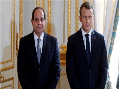الرئيس عبد الفتاح السيسي ونظيره الفرنسي