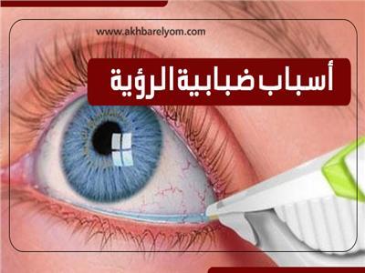 إنفوجراف  أسباب ضبابية الرؤية