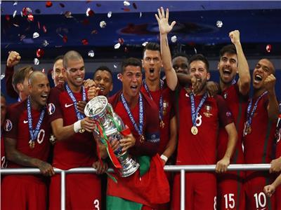 فرحة لاعبي منتخب البرتغال بـ «يورو 2016»
