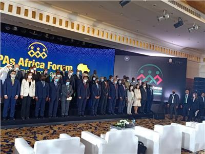 صورة تذكارية لرئيس الوزراء معرؤساء هيئات الاستثمار الافريقية