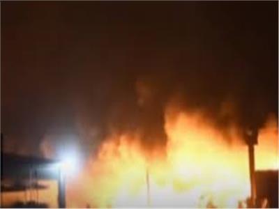 حريق في مبنى الزراعات المحمية التابعلوزارة الزراعة