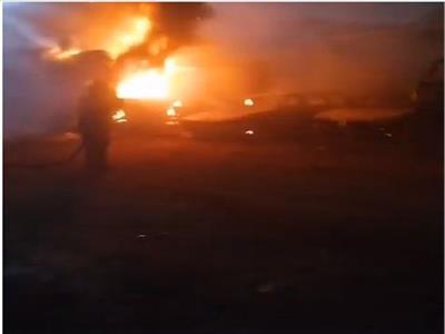 حريق وزارة الزراعة.. النيران تمتد لجراج سيارات